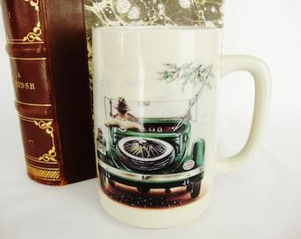 vintage mug antique auto classic car dad going fishing otagiri grande mug