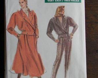 Vintage Vogue Misses Jacket, Skirt and Pants Pattern #7593, Uncut Sizes 14 thru 16