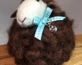 Needle Felted Sheep Ornament