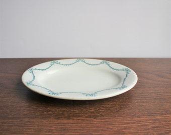 Vintage white retro jug, Shenango ironstone plate