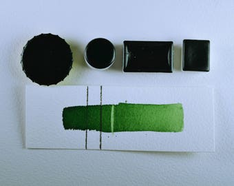 Foliage Green, Anthesis Arts Artisanal Handcrafted Watercolor Paints, Choose Your Size
