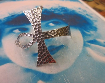 Sterling Silver Ox Plated Ankh Large Pendant 879SOX x1