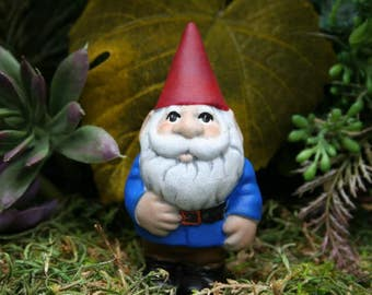 "Miniature Garden Gnome - ""Selfie Size"" Traveling Mini Pocket Gnome"