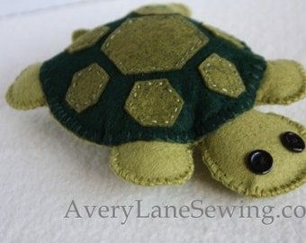 AveryLane Hand Sewing Project Felt Turtle PDF Pattern