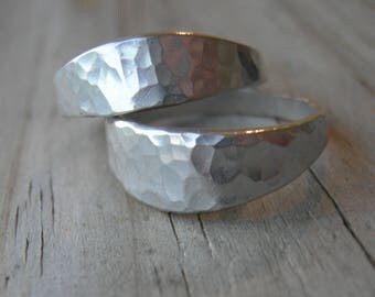 Soulmates Hammered Silver Ring Set MADE to ORDER