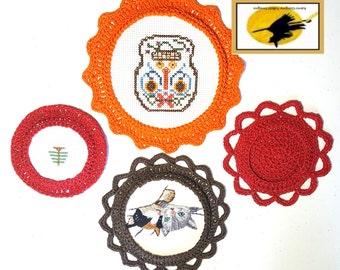 Crochet Circular Frames Crochet Pattern for 3, 4 and 5 inch diameter Frames Pattern Only