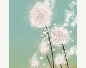 50% Off - Black Friday Dandelion Art - Perennial Moment - 8x10 Print