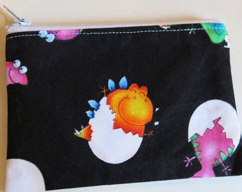 Cute coin purse with baby dinosaurs