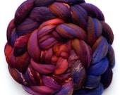 Superfine Merino Mulberry Silk Rambouillet 60/20/20 Roving Custom Blend, Bollywood