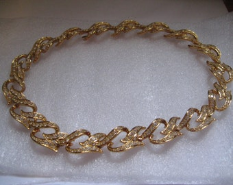 Elizabeth Taylor ETERNAL FLAME Choker with Rhinestones from the 80s