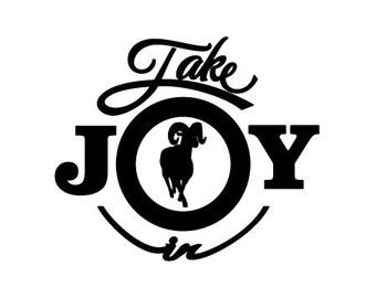 Take Joy In Ram Decal