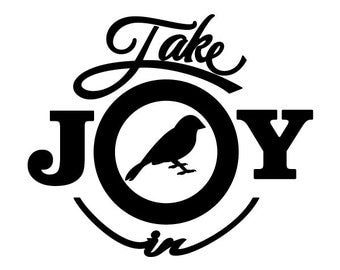 Take Joy In Canaries Decal