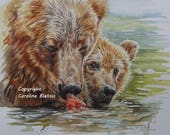Reserved for kcannington1:   Peekaboo - Original Painting