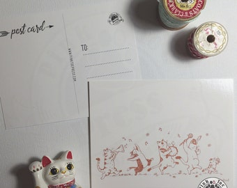 Cool Cats Parade Postcards // Pack of Five