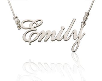 Custom Name Necklace - Personalized Name Necklace - Custom Name Gifts - Customize Your Name Necklace - 925 Sterling Silver