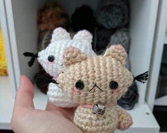 Kawaii adorable cute kitty Neko cat crochet amigurumi plushie stuffed animal