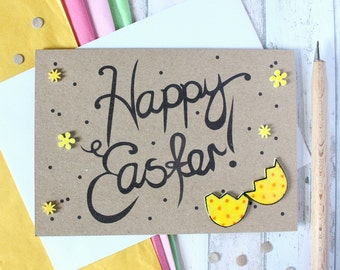 Easter Egg Card Handmade Easter Card Happy Easter Handmade Easter Cards Cards for Easter Cute Easter Card Easter Egg Fun Easter Card Easter