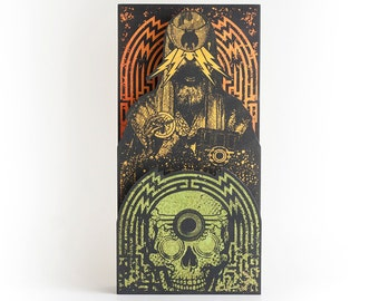 Large Screenprinted Shrine: The Wizard