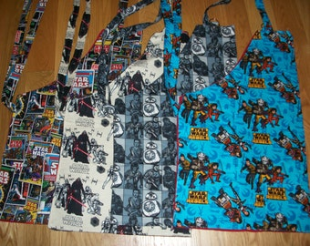 Barbeque Apron in Star Wars Patterns (Comic, Darth Vader, Black Characters or Blue Rebels)