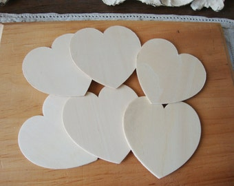 """Wood hearts 3"""" unfinished wooden hearts valentine day DIY rustic wedding party favor supplies embellishments heart ornament wood kids crafts"""