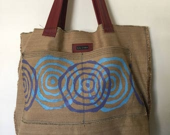Luxurious Linen blend with Screen Print Tote