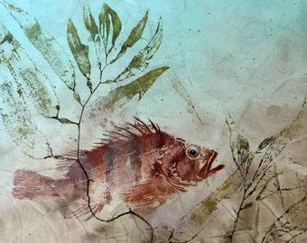 Notecard (5 x 7) -Tiger Rockfish and Kelp