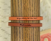 handwriting bracelet | custom handwriting bracelet |  actual handwriting bracelet | handwritten bracelet | personalized quote bracelet