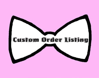 Custom Order Bridal As discussed via email RESERVED for M