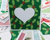 Mini Heart Cards Bulk Christmas Collection