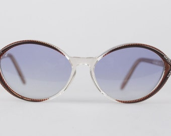 Authentic YVES SAINT LAURENT Vintage mint sunglasses ikaria 56/15 w/rhinestones