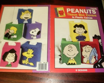 Character Plastic Canvas Patterns Peanuts Tissue Box Cover Leisure Arts 1821 Plastic Canvas Pattern Leaflet