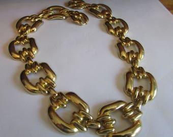 Big gold link choker