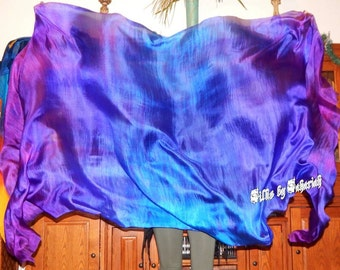 "Sahariah's Silk Belly Dance Veil Rectangle original ""Killer Silk"" 3 Yard Rectangle Veil Wild Tribal Veil Streaks Markings SALE"
