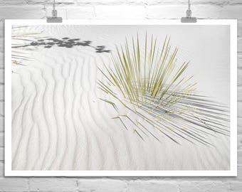 Sand Dunes, Desert Photography, New Mexico, Desert Art, Minimalist Art, Nature Photography, White Sands, Fine Art Print, Nature Art