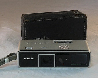 Vintage Minolta 16 Sub Miniature Camera with Case 1964-1974