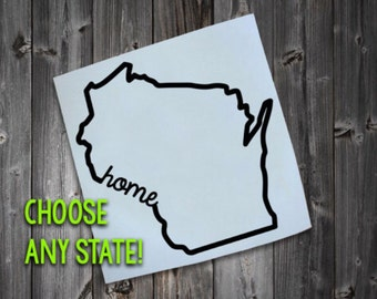Any state decal, State Car Decal, Yeti Decal, Personalized,