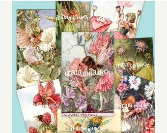 SALE FAIRIES Collage Digital Images -printable download file-