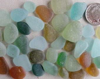 English sea glass colour collection teal, lime,green,seafoam,amber,orange  etc etc