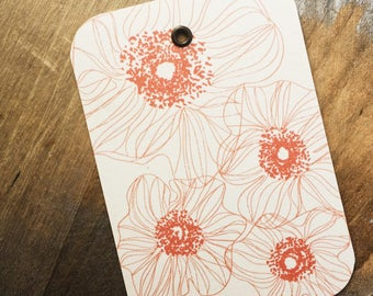 poppies // gift tags // set of 4
