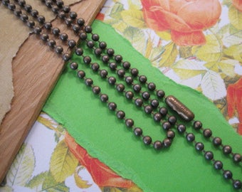 Brass Ox Stainless Steel 2.4mm  Ball Chain from Tierracast  - 30 Inches with One Clasp