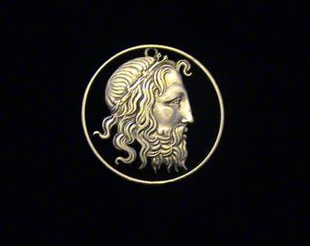 Poseidon - GREECE - cut coin jewelry - SILVER - RARE - 1930 - FReE Phoenix!!!