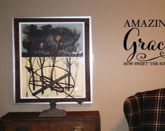 Amazing Grace How Sweet the Sound Wall Decal/Wall Words/Wall Transfer