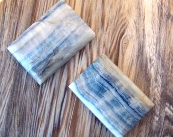Lapis Lace Onyx Rectangle Cabochon Set of 2