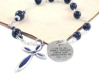 Christian Prayer Beads - Pocket Rosary - Anglican, Episcopalian, Protestant