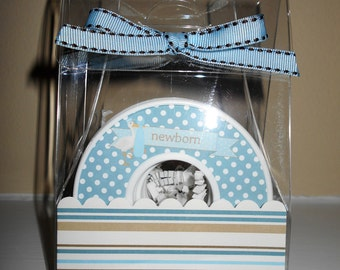 Baby Closet Dividers-Set of 9-BABY BOY BLUE- in Acrylic Gift Box
