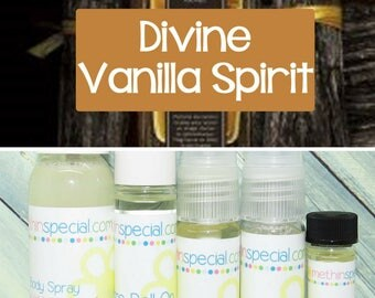 Divine Vanilla Spirit Fragrance, Perfume Spray, Body Spray, Perfume Roll On, Perfume Oil, Dry Oil Spray, You Choose the Product