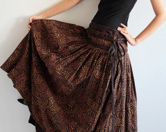 Sweet spot...2 layers full maxi skirt...cotton Printed  (one size fits S-L)