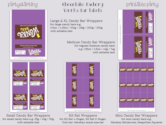 Wonka bar wrappers wonka bar candy bar wrapper by for Free mini candy bar wrapper template