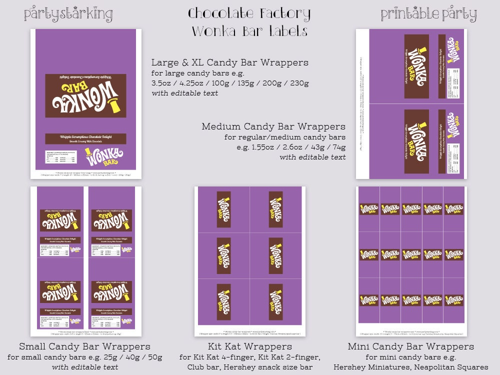 Wonka bar wrappers wonka bar candy bar wrapper by for Chocolate bar label template