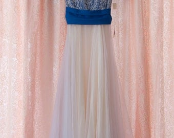 Vintage Gown - Bridesmaid Prom NWT's Royal Blue Lace Bows Nadine Theatre Costume Southern Belle